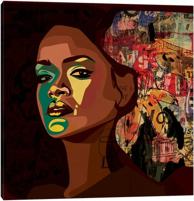 Rihanna II Canvas Print #DCA38