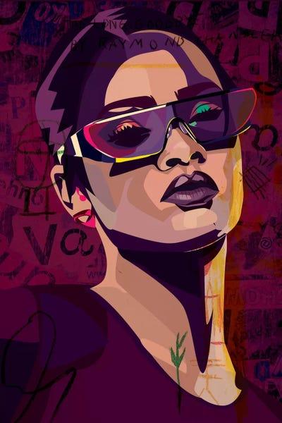 Rihanna Iii Canvas Art Print By Dai Chris Art Icanvas