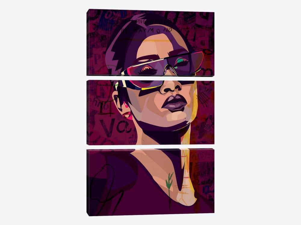 Rihanna III by Dai Chris Art 3-piece Canvas Wall Art