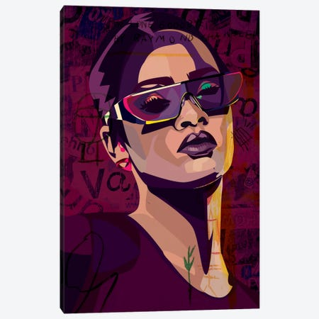 Rihanna III Canvas Print #DCA39} by Dai Chris Art Art Print