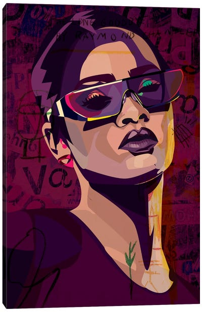 Rihanna III Canvas Art Print