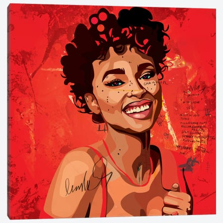 Ashlee Blake II Canvas Print #DCA3} by Dai Chris Art Canvas Artwork