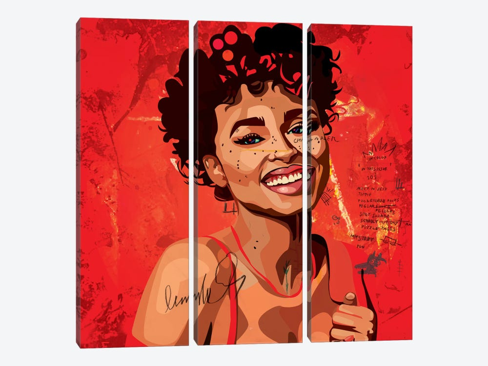 Ashlee Blake II by Dai Chris Art 3-piece Canvas Print