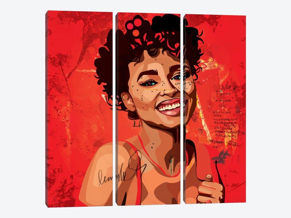 Ashlee Blake II by Dai Chris Art 3-piece Canvas Print