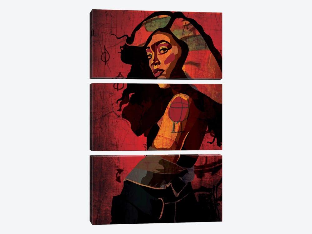 Shoulder Girl by Dai Chris Art 3-piece Canvas Art