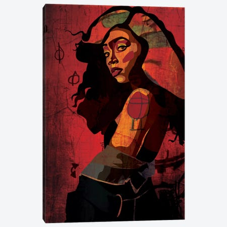 Shoulder Girl Canvas Print #DCA40} by Dai Chris Art Canvas Wall Art