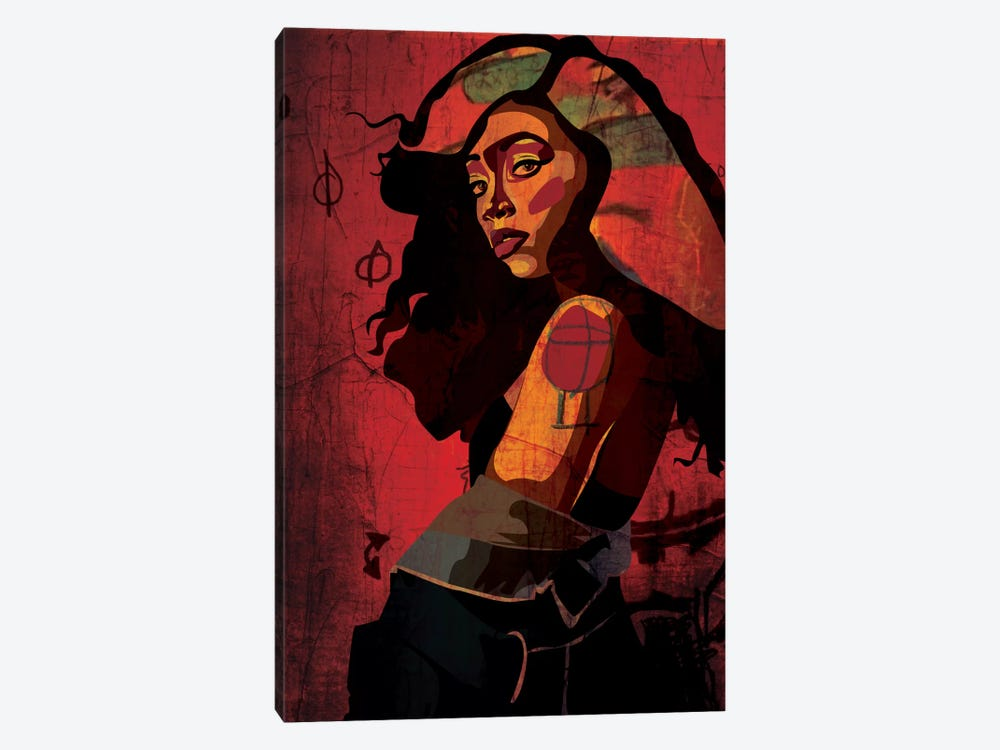 Shoulder Girl by Dai Chris Art 1-piece Canvas Artwork