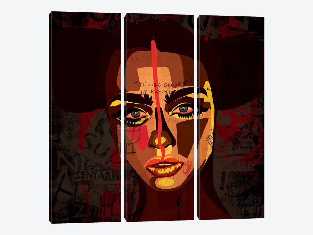 Tribal Girl by Dai Chris Art 3-piece Canvas Print
