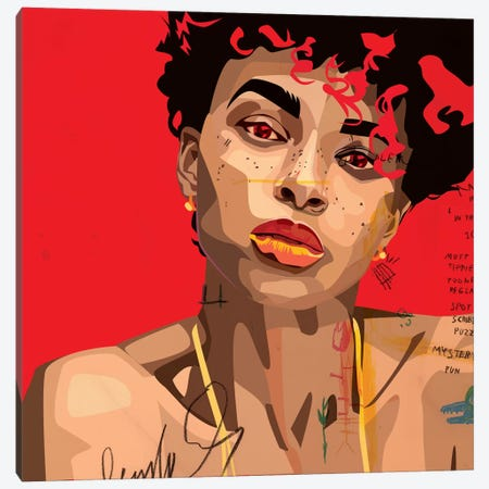 Ashlee Blake V Canvas Print #DCA43} by Dai Chris Art Canvas Wall Art