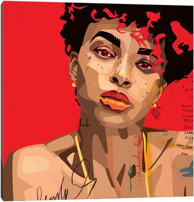 Ashlee Blake V Canvas Art Print