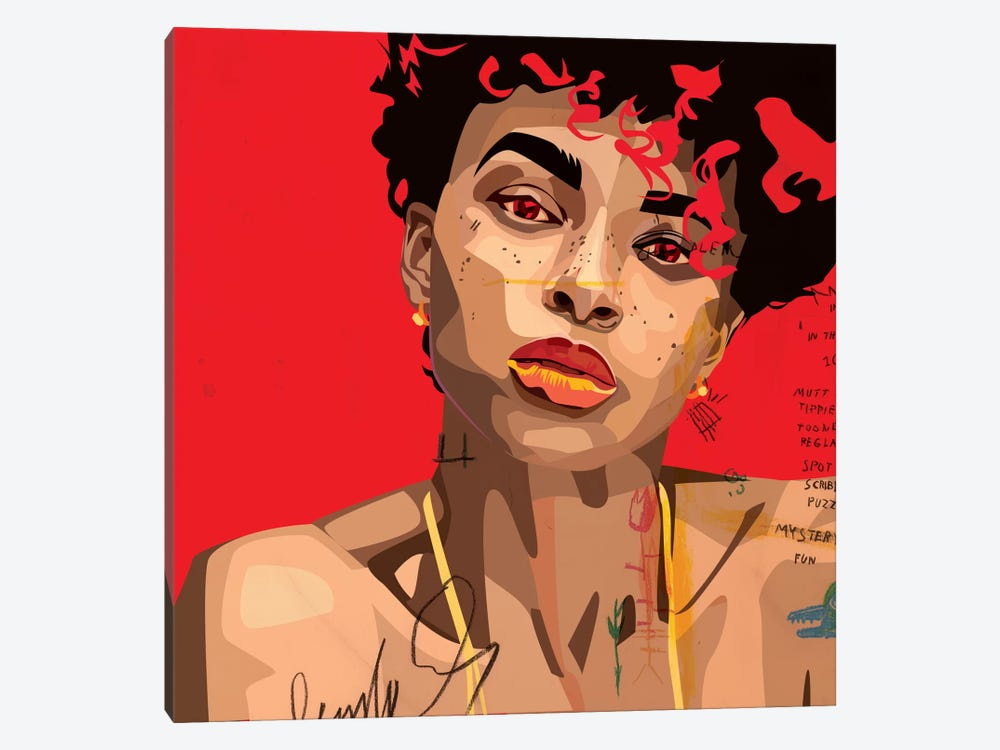 Ashlee Blake V by Dai Chris Art 1-piece Canvas Art Print