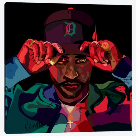 Big Sean II Canvas Print #DCA45} by Dai Chris Art Canvas Print