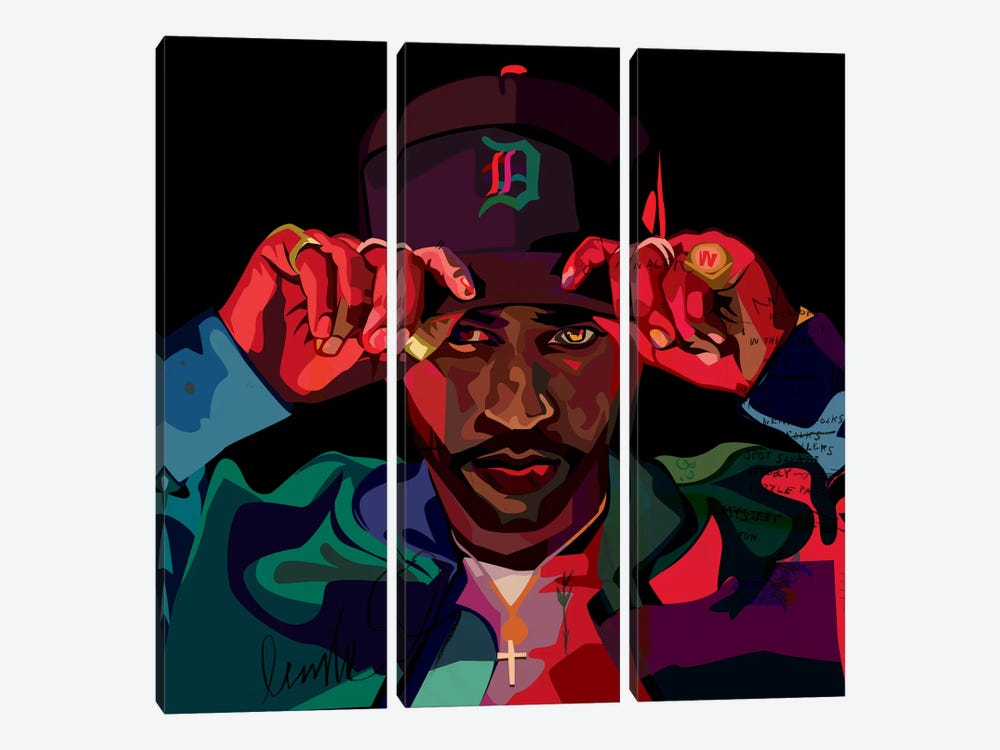 Big Sean II by Dai Chris Art 3-piece Art Print
