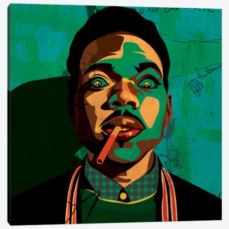 Chance The Rapper Canvas Print #DCA47} by Dai Chris Art Art Print