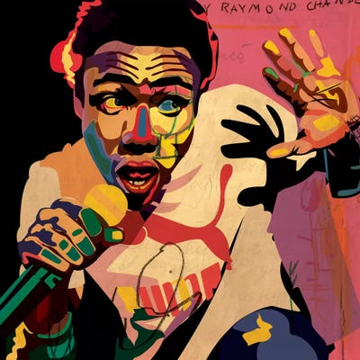 P-63 Childish Gambino Summer Pack Cover Poster Wall Art Canvas