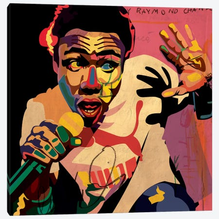 Childish Gambino Canvas Print #DCA48} by Dai Chris Art Canvas Artwork