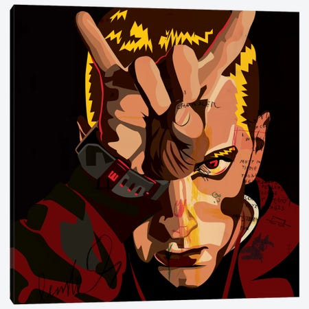 Eminem Canvas Print #DCA50} by Dai Chris Art Canvas Print