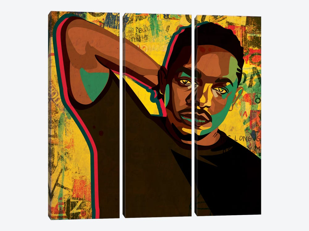 Kendrick by Dai Chris Art 3-piece Canvas Artwork