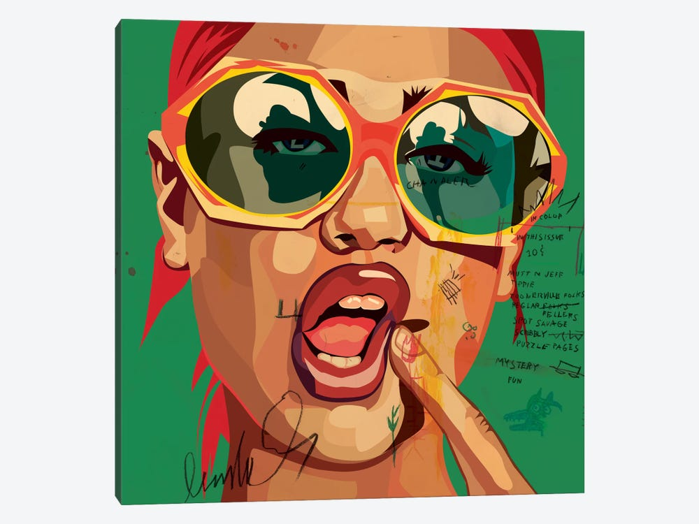 Playful Girl by Dai Chris Art 1-piece Canvas Print