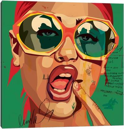 Playful Girl Canvas Print #DCA52