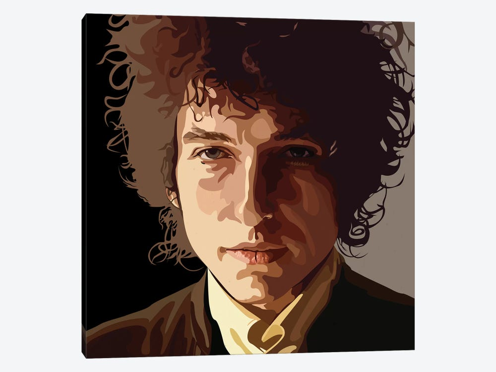 Bob Dylan by Dai Chris Art 1-piece Canvas Art