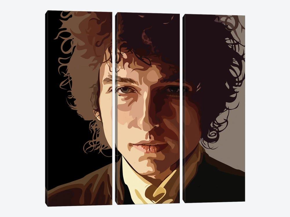 Bob Dylan by Dai Chris Art 3-piece Canvas Artwork