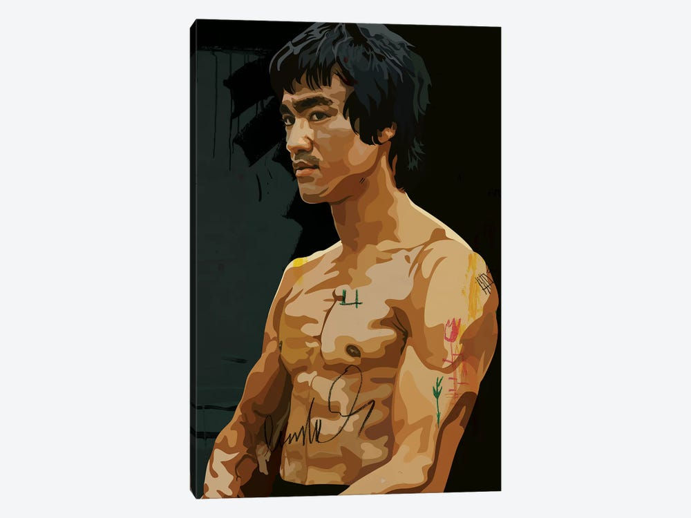 Bruce Lee by Dai Chris Art 1-piece Canvas Art