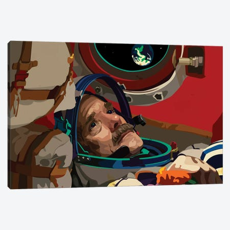 Chris Hadfield, Astronaut Canvas Print #DCA56} by Dai Chris Art Canvas Artwork