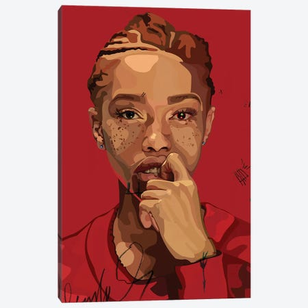 Freckles Girl Canvas Print #DCA58} by Dai Chris Art Canvas Art Print