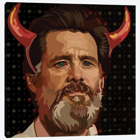 Jim Carrey Beard Canvas Print #DCA59} by Dai Chris Art Canvas Print