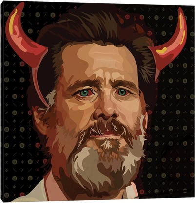 Jim Carrey Beard Canvas Art Print
