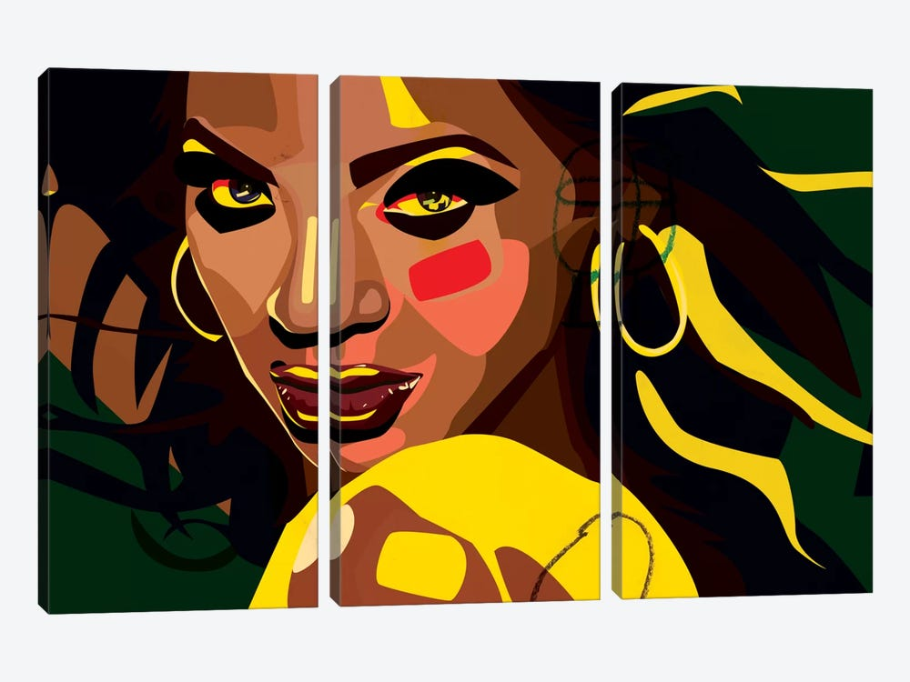 Beyonce by Dai Chris Art 3-piece Canvas Print