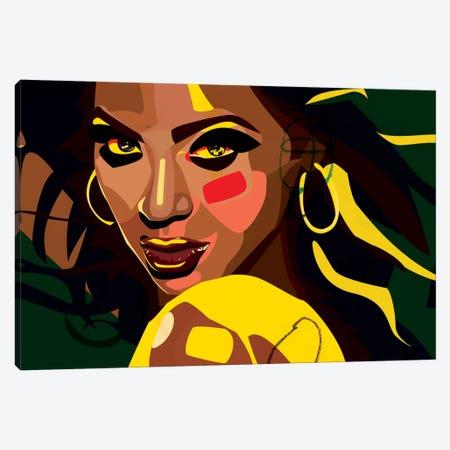 Beyonce 3-Piece Canvas #DCA5} by Dai Chris Art Canvas Print