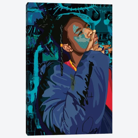Joey Bada$$ Canvas Print #DCA60} by Dai Chris Art Canvas Art