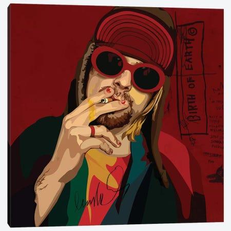 Kurt Cobain Canvas Print #DCA61} by Dai Chris Art Canvas Art