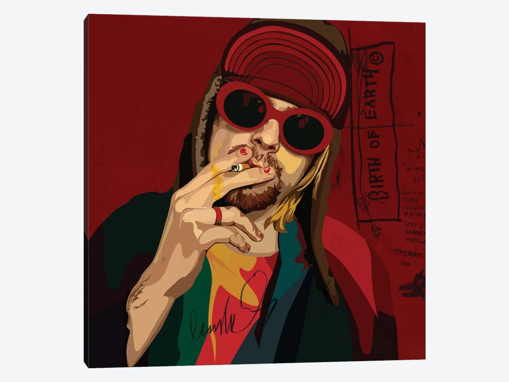 Kurt Cobain by Dai Chris Art 1-piece Art Print