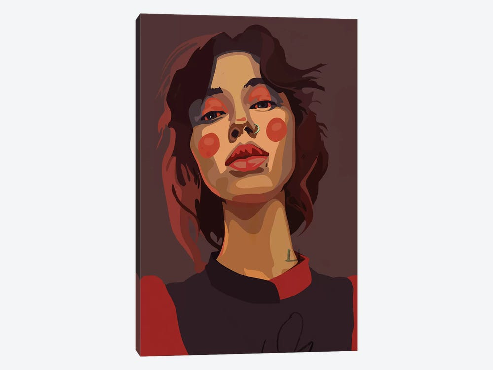 Long Neck Girl by Dai Chris Art 1-piece Canvas Print