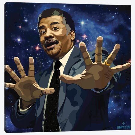 Neil deGrasse Tyson Canvas Print #DCA66} by Dai Chris Art Canvas Print