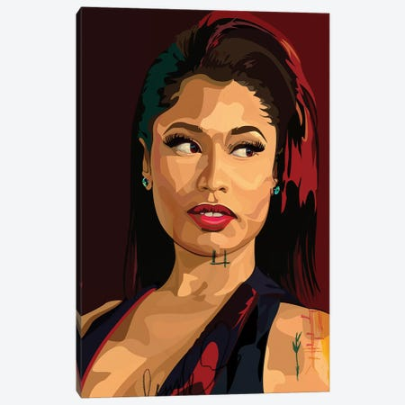 Nikki Minaj Canvas Print #DCA67} by Dai Chris Art Art Print
