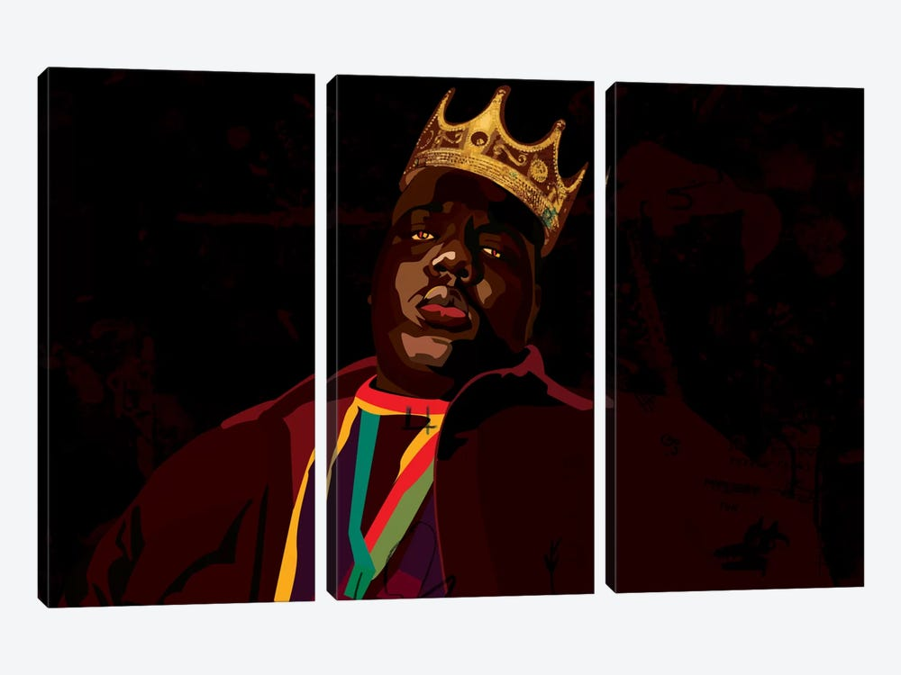 Biggie by Dai Chris Art 3-piece Canvas Artwork