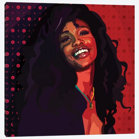 SZA Canvas Print #DCA71} by Dai Chris Art Canvas Print