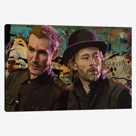 Thom And Robert Del Naja Canvas Print #DCA73} by Dai Chris Art Canvas Art Print