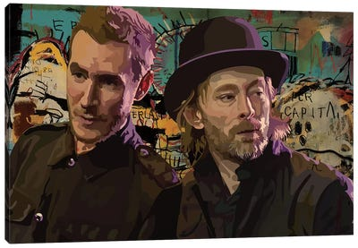 Thom And Robert Del Naja Canvas Art Print