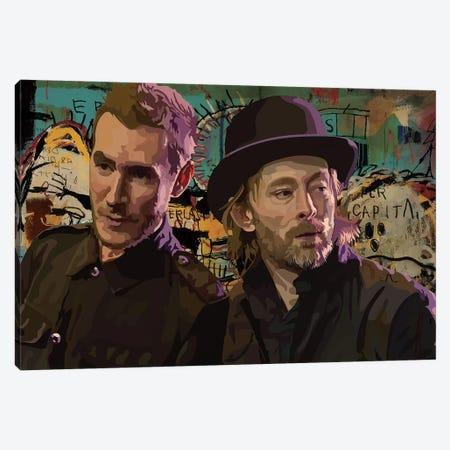 Thom And Robert Del Naja Canvas Print #DCA73} by Dai Chris Art Canvas Art Print