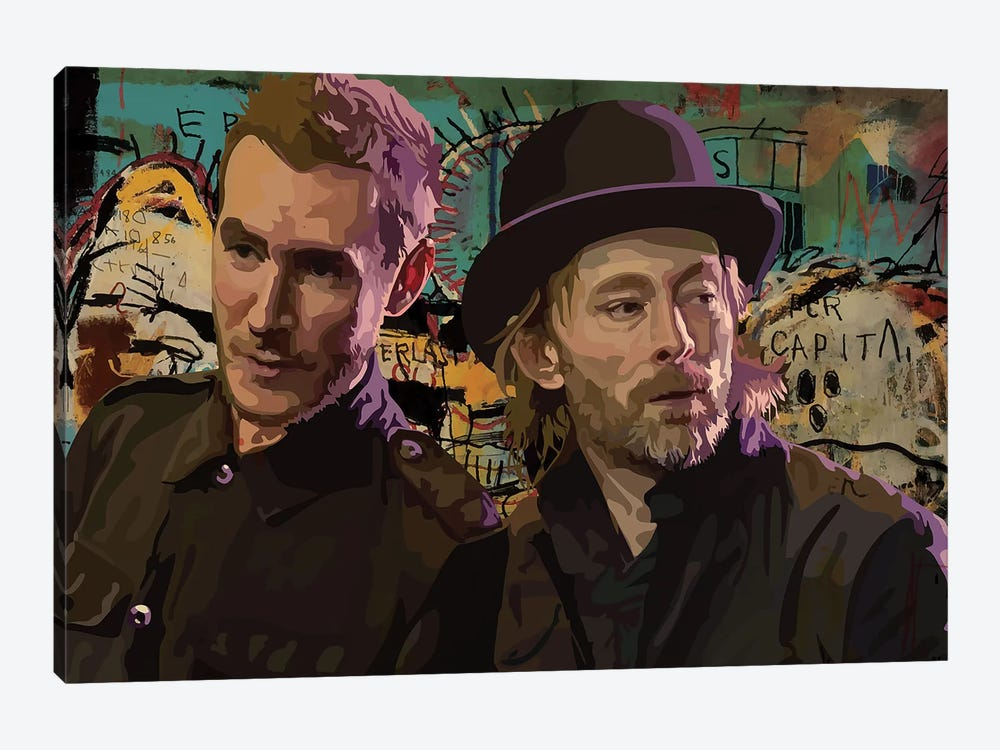 Thom And Robert Del Naja by Dai Chris Art 1-piece Canvas Art