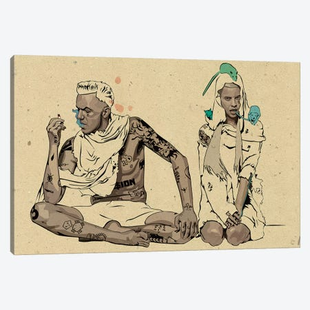 Die Antwoord Illustration Canvas Print #DCA77} by Dai Chris Art Canvas Wall Art