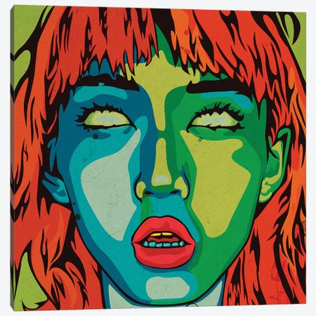 Her Eyes Canvas Print #DCA78} by Dai Chris Art Canvas Print