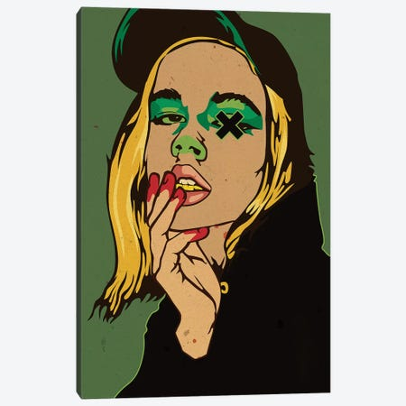 Hype Girl - Green 3-Piece Canvas #DCA79} by Dai Chris Art Art Print