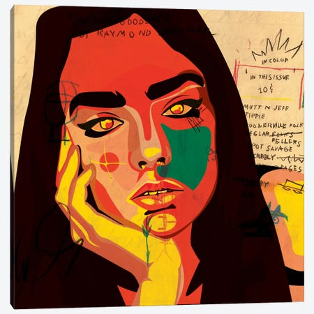 Daydreaming Canvas Print #DCA7} by Dai Chris Art Canvas Print