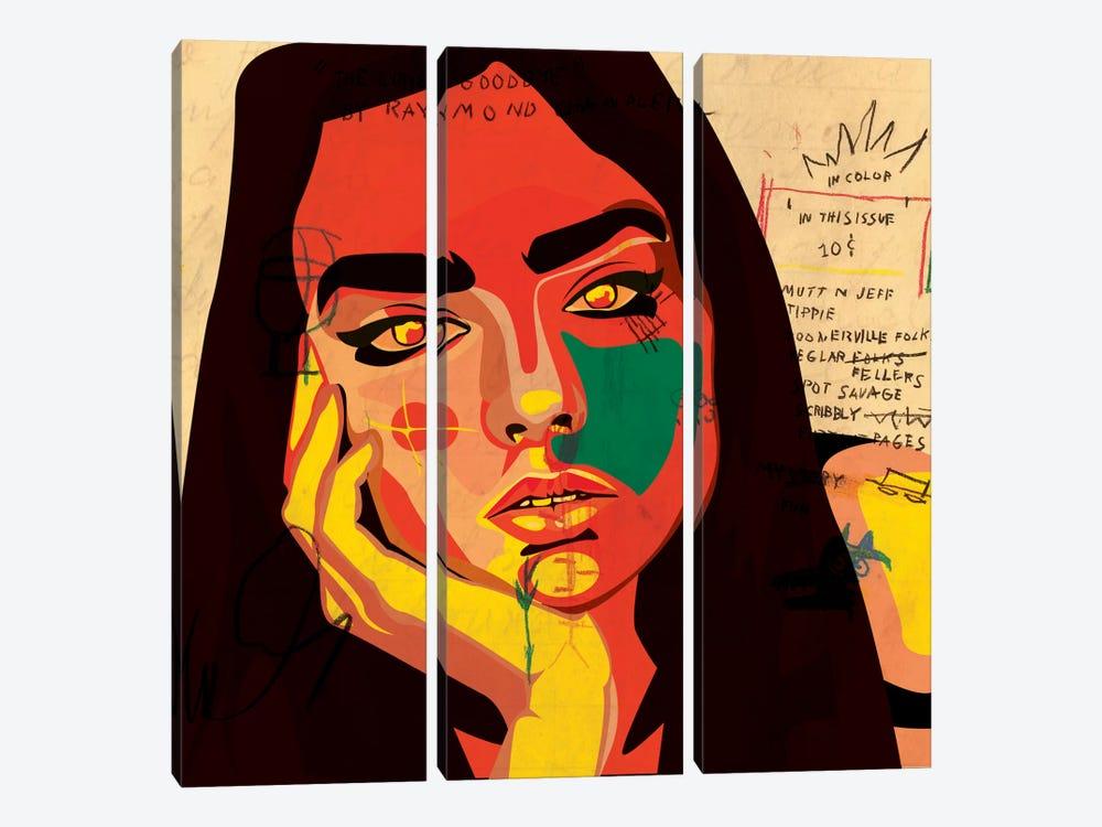 Daydreaming by Dai Chris Art 3-piece Canvas Art Print